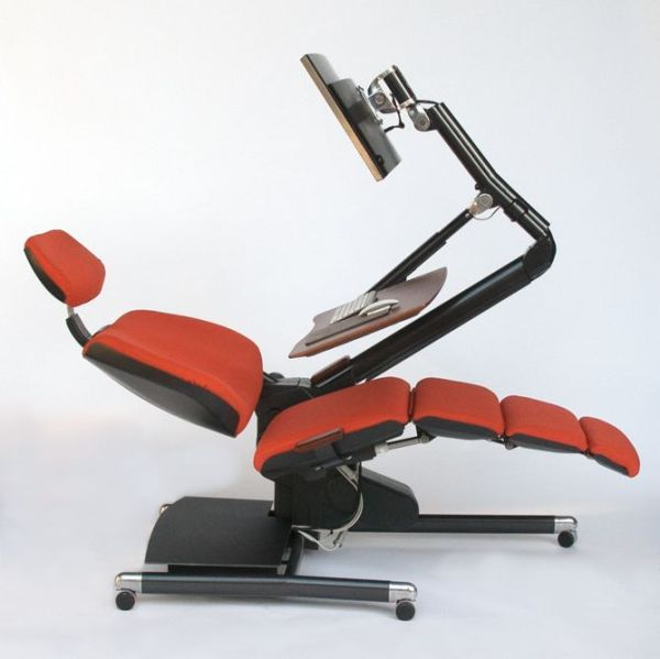The Altwork Station allows for many different reclining positions. Image: Altwork