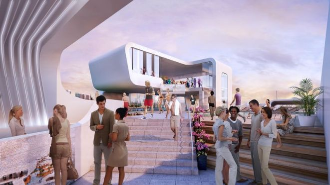 Artist's rendering of Breakwater Chicago Image via Breakwater Chicago