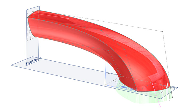 solidworks surfacing fridge handle