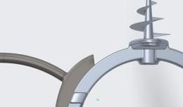 created using Creo this Aluminum die cast part is for closet storage