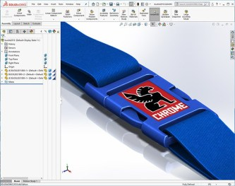 An example of a manufacturable buckle design using SOLIDWORKS