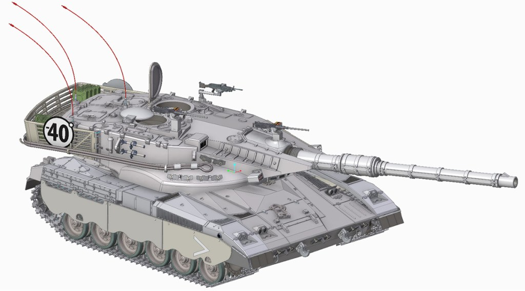 Merkava Tank made with the Creo design tool Creo Training