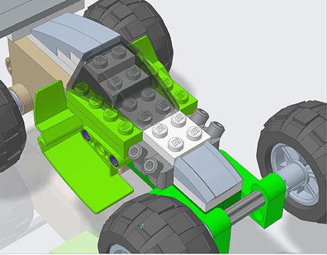 Lego Racer Creo 7.0 model
