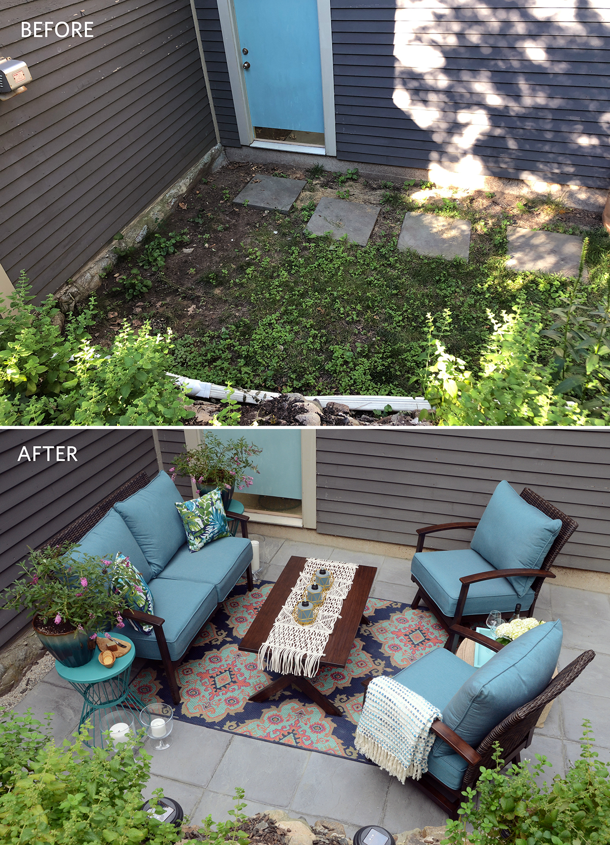 budget patio makeover from patchy