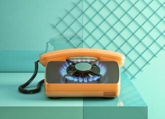 Téléphone à Gaz Unsmart Devices de Foreal Studio