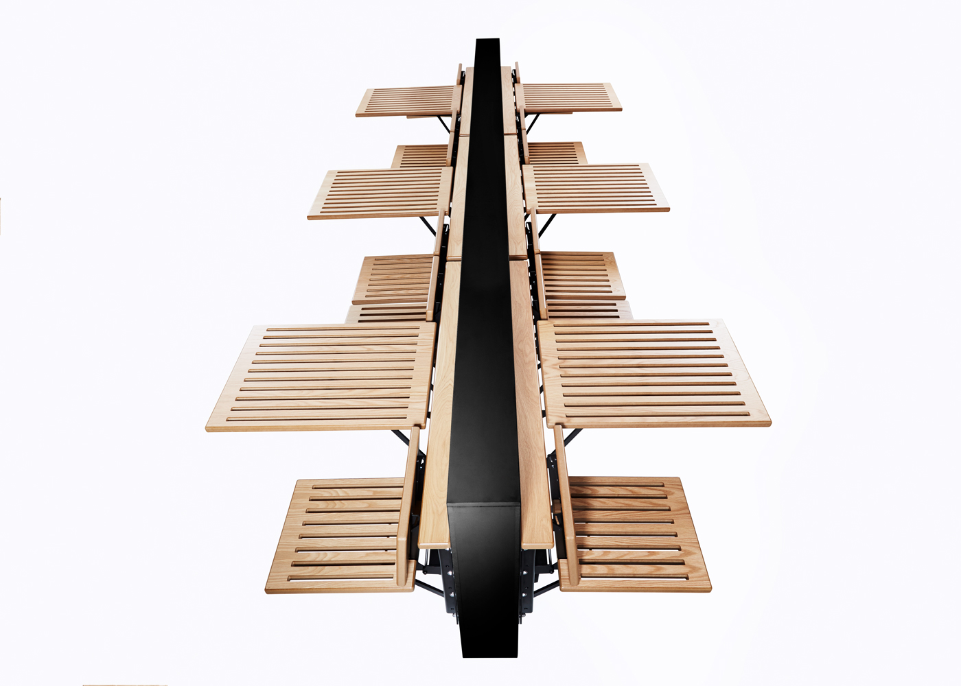 Innovation Within Benches Automated Space Saving Seating Design