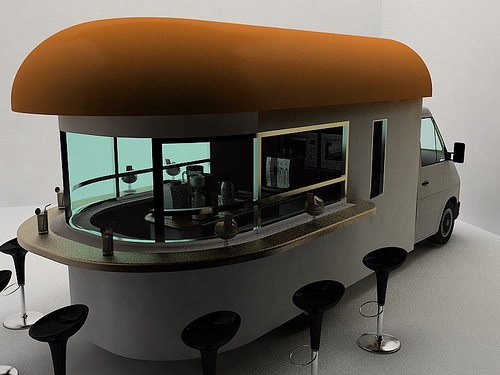Mobile Coffee Shop Concept - Daniel Milchtein