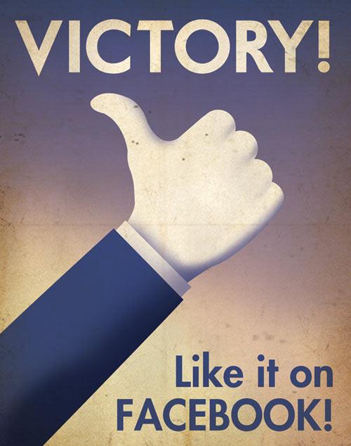 Social media propaganda posters