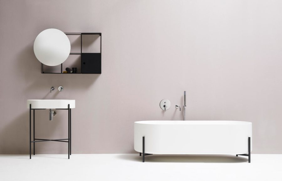 Minimalist Black and White Bathroom Fixtures   Design Milk Minimalist Bathroom Fixtures by Norm Architects for Ex t