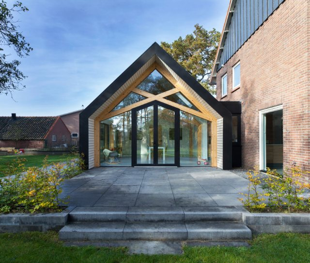 A S Farmhouse In The Netherlands Is Renovated And Gets An Extension