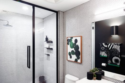 Basic Bathroom Gets a Graphic, Modern Renovation