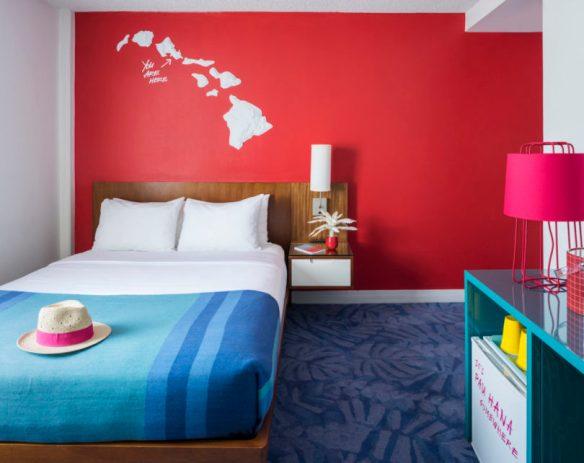 Hawaiian Hospitality Gets a Neon Makeover at the New Shoreline Hotel