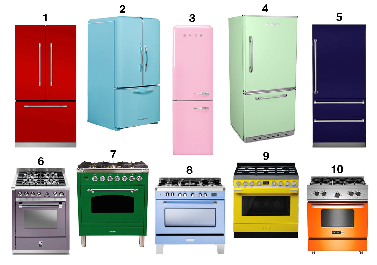 10 Colorful Kitchen Appliances That Will Make You Say