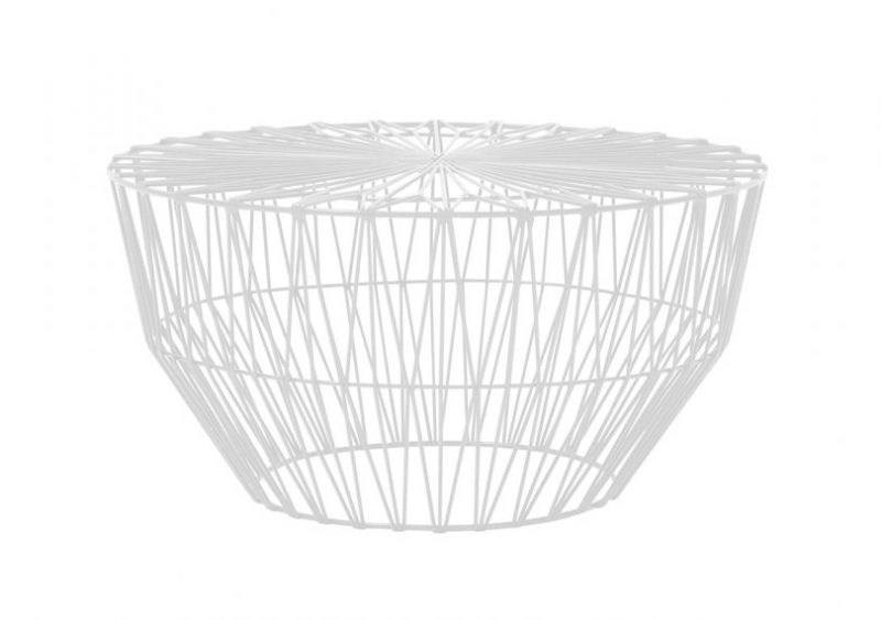 White drum table by Bend Goods on a white background