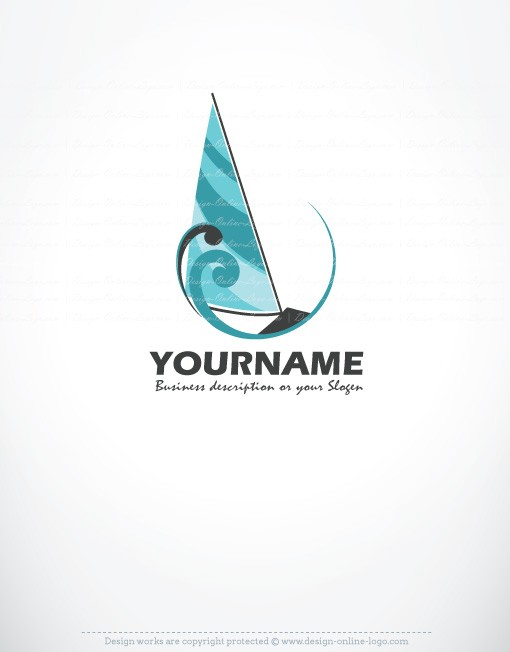 Exclusive Design Sailboat Logo Compatible FREE Business