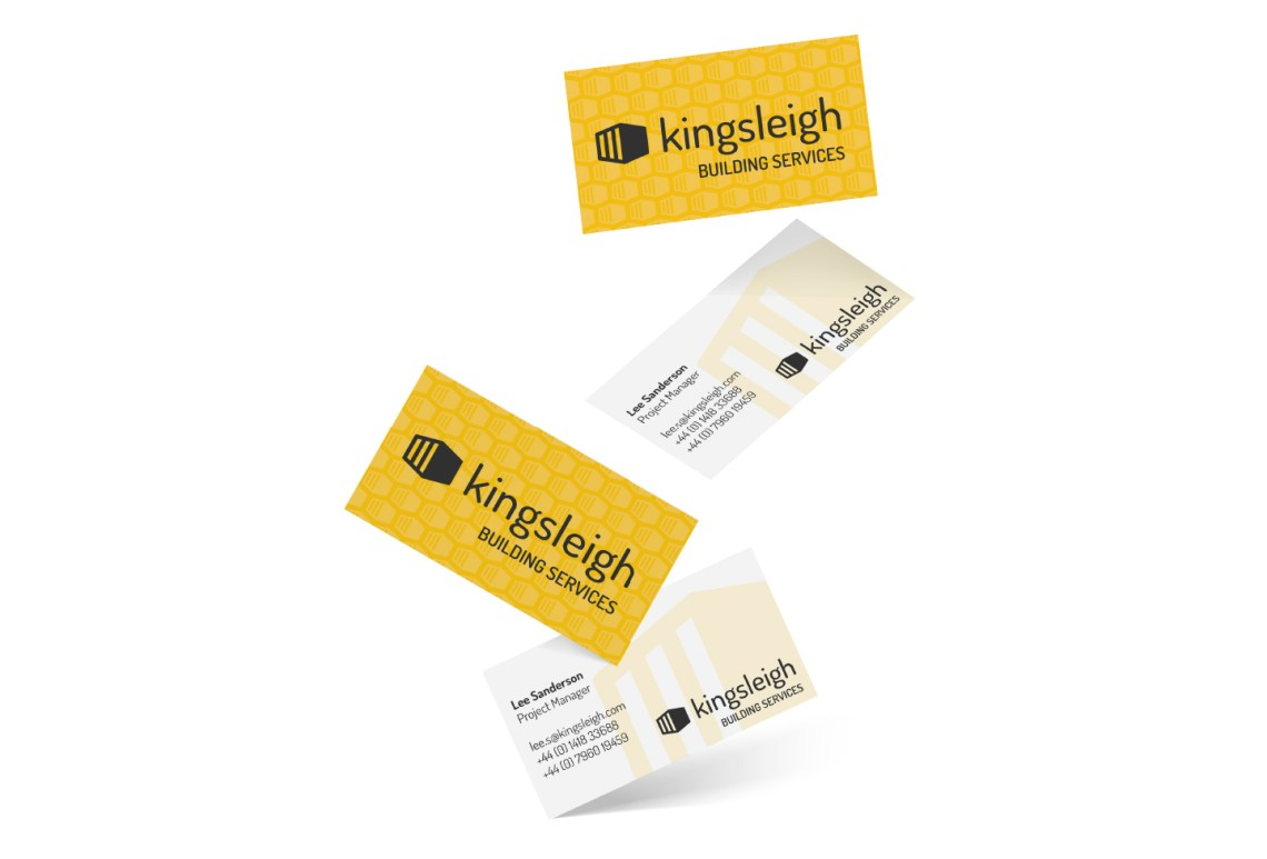 Kingsleigh Business Cards - Aardwolf Design - Graphic Design Logo Services