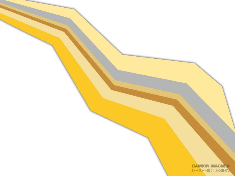 Jagged Yellow Stripe