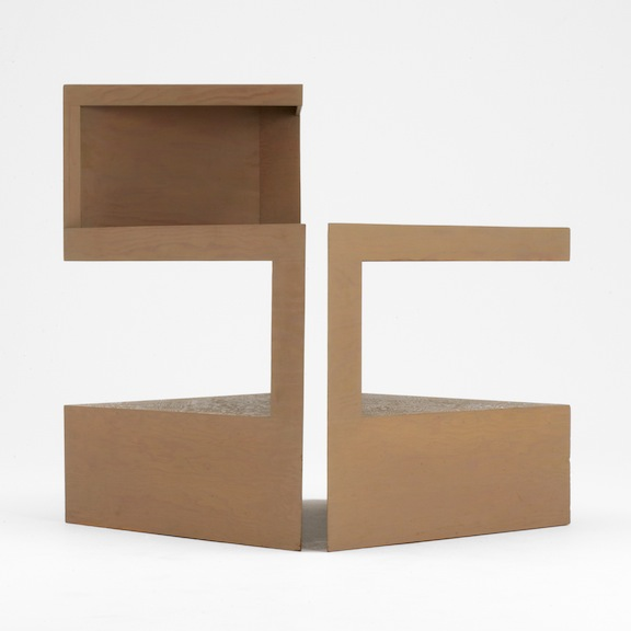 """Rudolph Schindler, """"Gingold Living Room End Tables, Los Angeles, California,"""" circa 1943"""