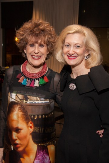 Sandy Schreier and grand benefactor Laurie Bay.