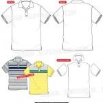 Polo shirt vector template