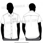 Button down shirt vector