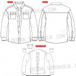 Button down shirt template
