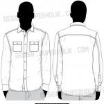 button down shirt vector template
