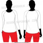 3/4 Sleeve Raglan Shirt Template Set