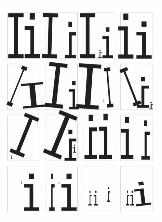 Variations on letter I in Illustrator