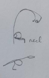 Letter K: Sketch detail