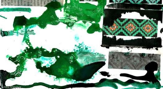 Acrylic blob green original