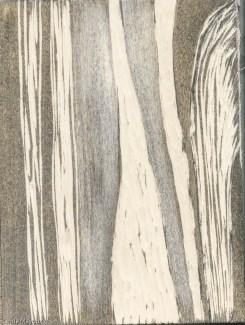 Vertical landscape woodcut