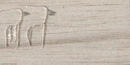 Incised balsa wood