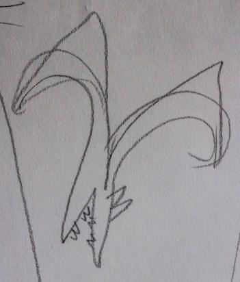 Letter W: sketch