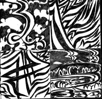 Zentangles_BW_bottomhalfdarkpixelgrain