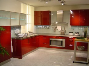 awesome modern kitchen design ideas with red cabinet for 2013 design orientation