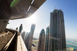 Dubai View From Building Rooftops (5)
