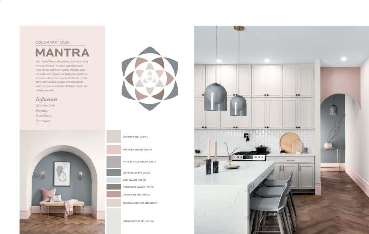Sherwin-Williams Color Forecast Palette Mantra