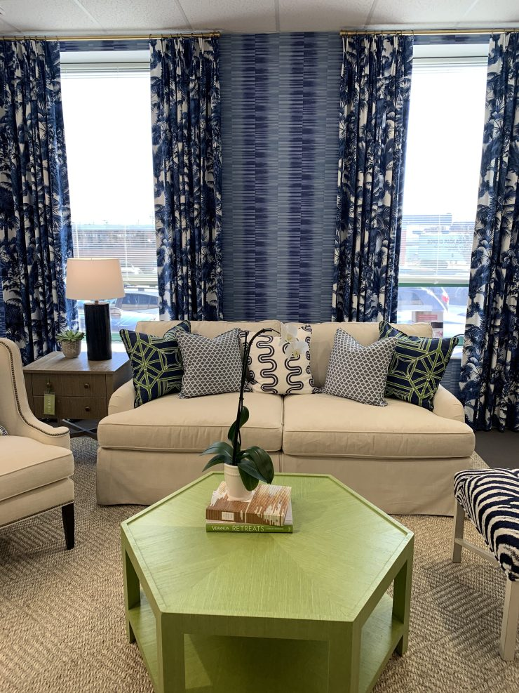 green and blue living room furniture