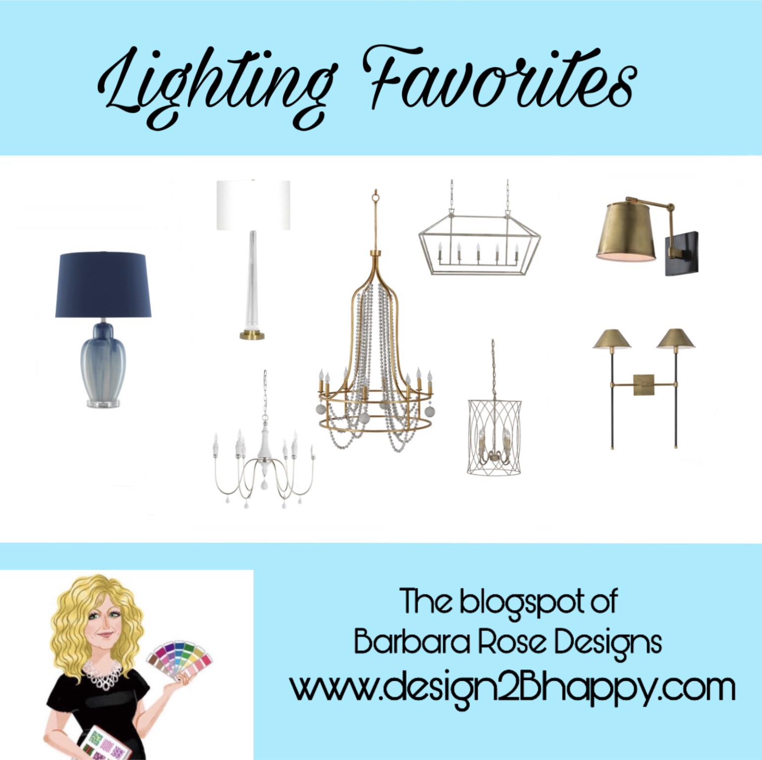 chandeliers, lamps and sconces