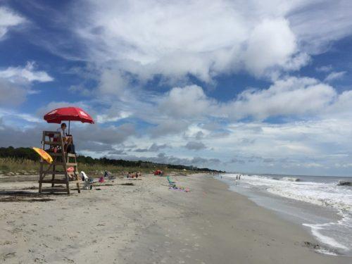 Coligny Beach, Hilton Head Beach with Life Guard