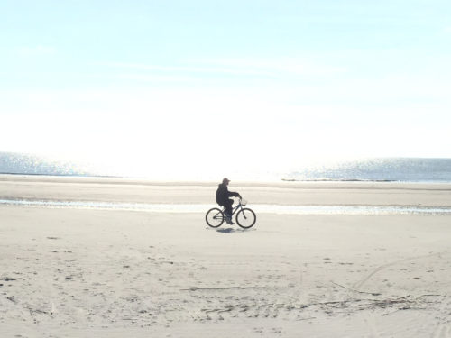 Hilton Head Island's hard sand beaches are perfect for bicycling.