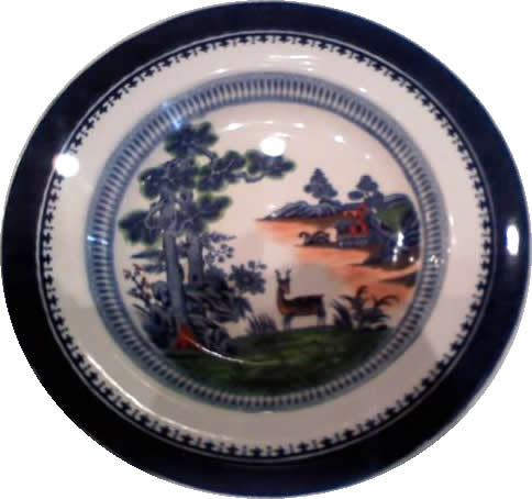 Booths China Plate, Lowestoft Deer Pattern This china pattern was used during the Thorne and Loomis era (1930-1949) and can be seen in photographs of the era. Native islanders worked as cooks at Honey Horn, creating elaborate meals from local produce, seafood and game. Exhibit at Discovery House museum at Honey Horn Plantation & Coastal Discovery Museum