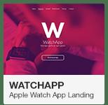 WatchApp Apple Watch App Promo Landing Adobe Muse Template
