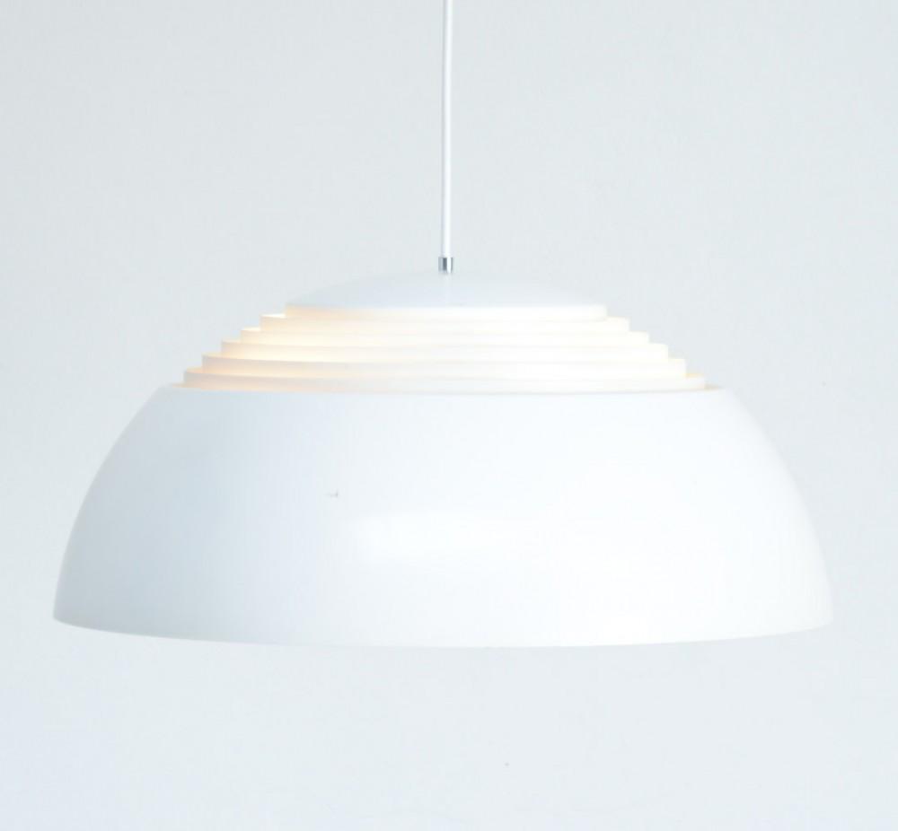 white aj royal pendant lamp by arne