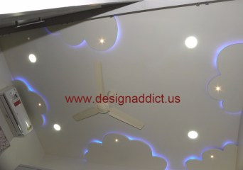 16.kids room False ceiling design
