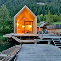 * Residential Architecture: Bath House in Carinthia by Peter Jungmann