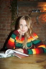 Kamila, wearing a No21 knit.