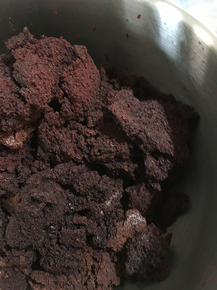 chocolate cake crumbs