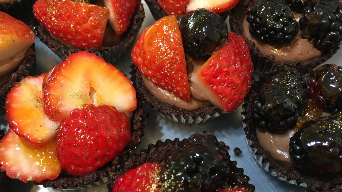 Double Chocolate Fruit Tarts